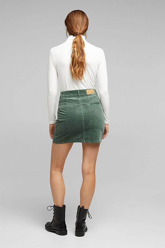 Corduroy mini skirt, LIGHT KHAKI, detail image number 3