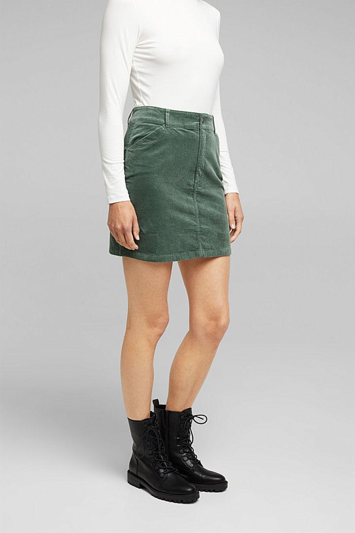Corduroy mini skirt, LIGHT KHAKI, detail image number 6