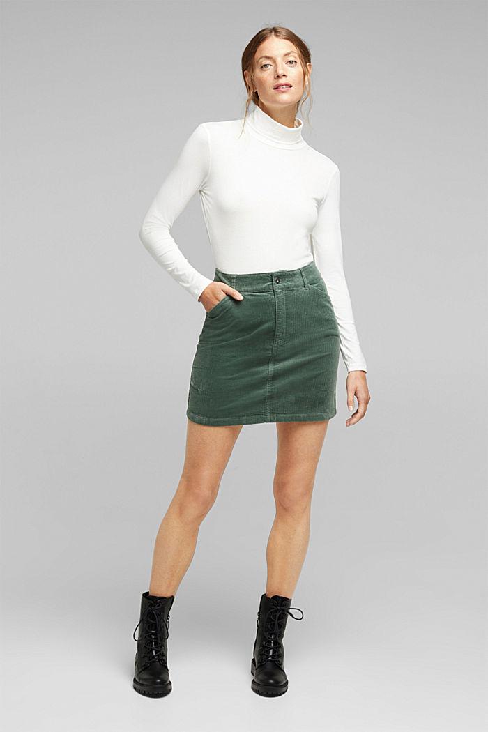 Corduroy mini skirt, LIGHT KHAKI, detail image number 1