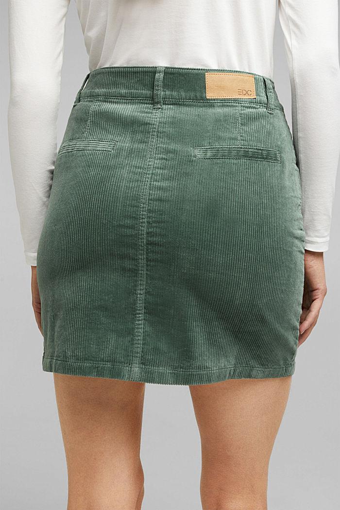 Corduroy mini skirt, LIGHT KHAKI, detail image number 5
