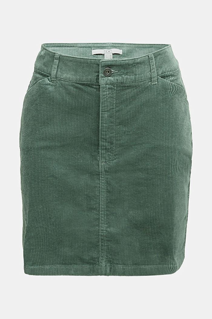 Corduroy mini skirt, LIGHT KHAKI, detail image number 7