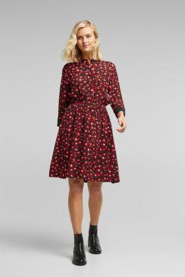 Shirt dress made of LENZING™ ECOVERO™, BLACK 3, detail