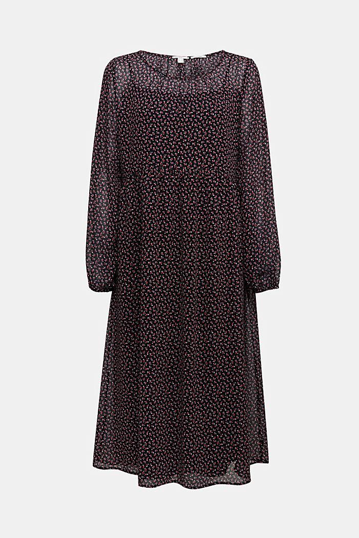 Recycled: midi dress made of chiffon