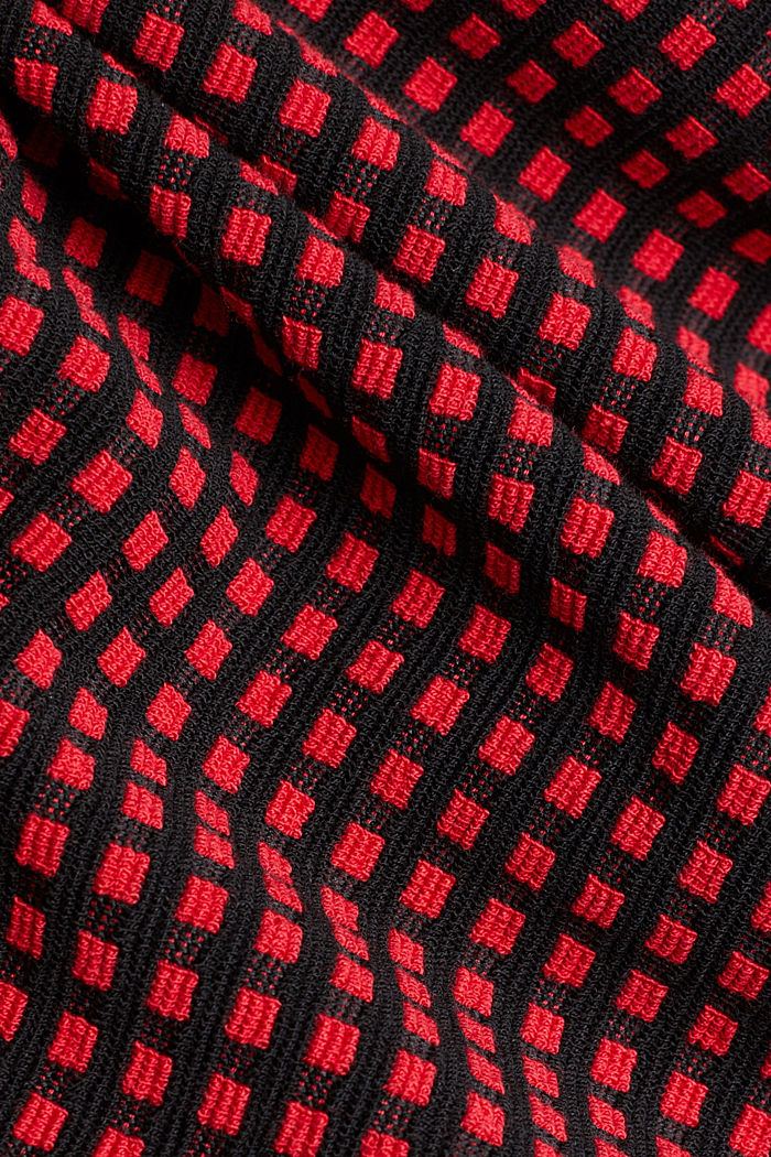 Jersey dress with a popcorn texture, RED, detail image number 4