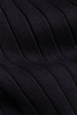 Knitted dress with organic cotton, BLACK, detail
