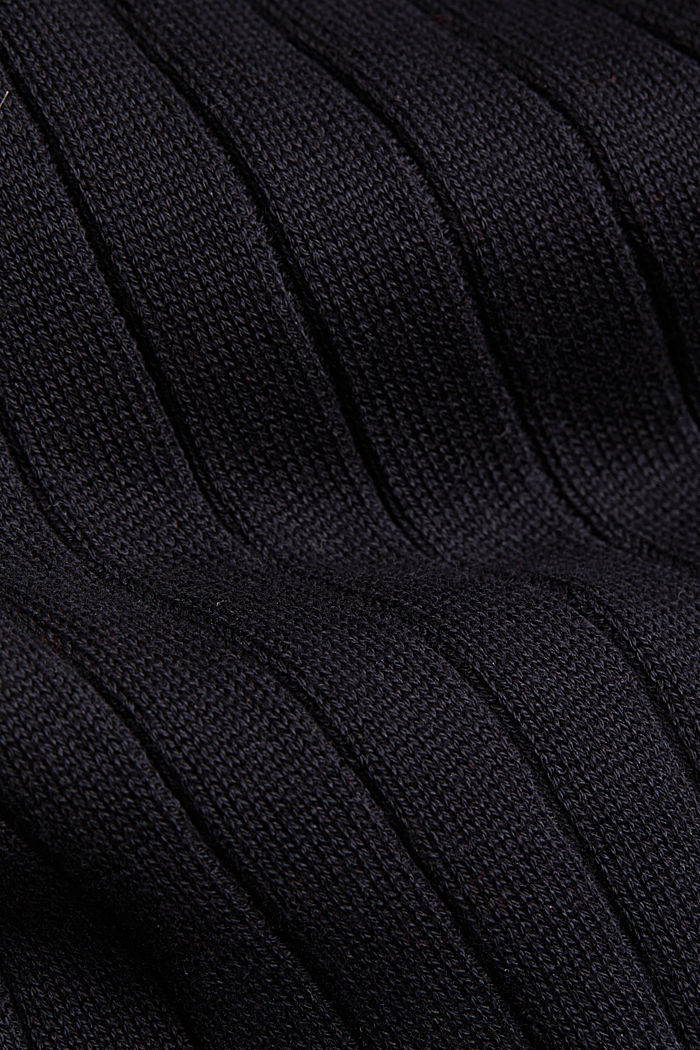 Knitted dress with organic cotton, BLACK, detail image number 4