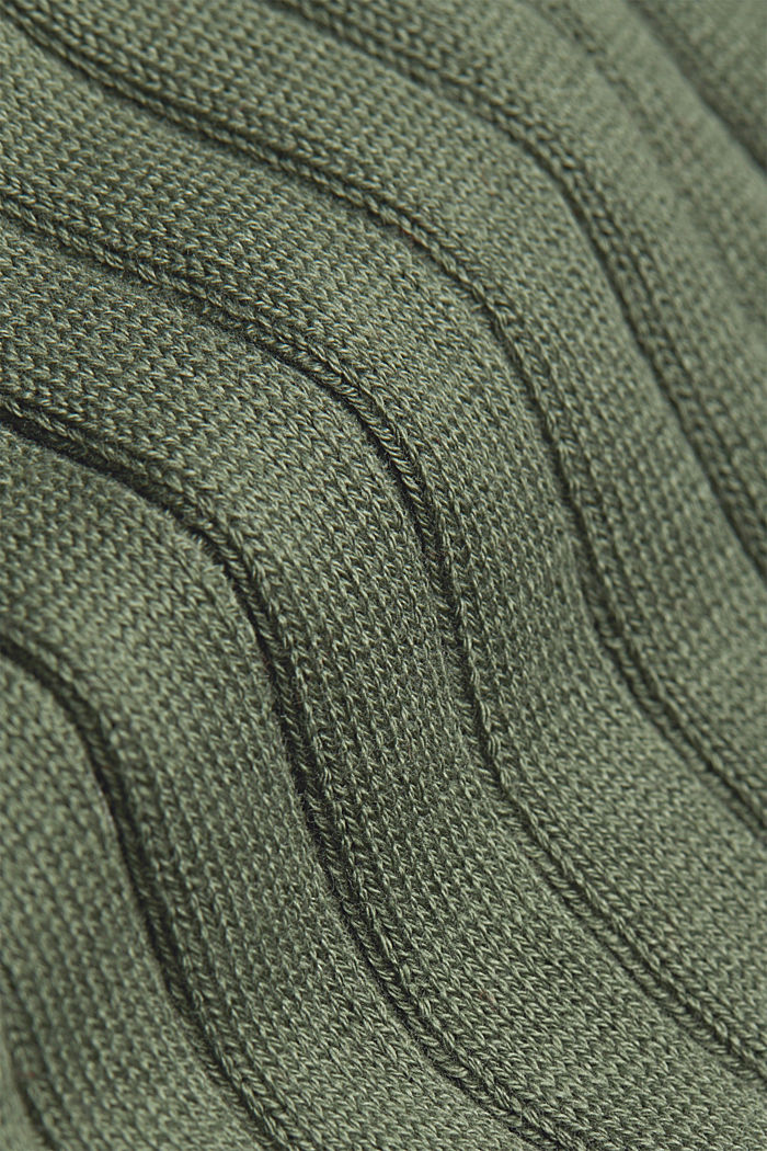 Knitted dress with organic cotton, LIGHT KHAKI, detail image number 4