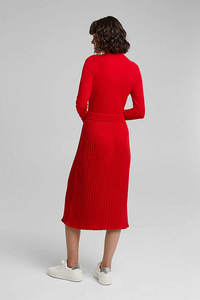 Knitted dress with organic cotton, RED, detail image number 2