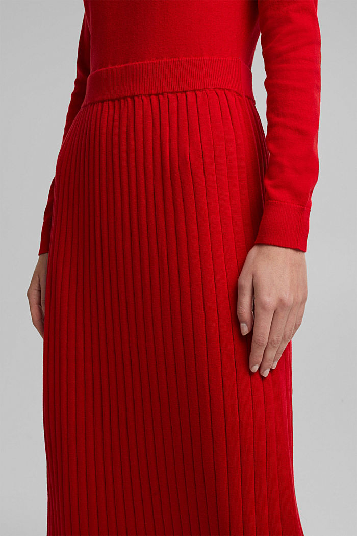 Knitted dress with organic cotton, RED, detail image number 3