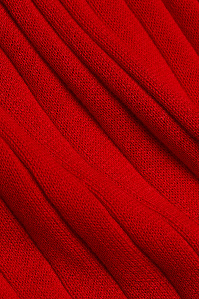 Knitted dress with organic cotton, RED, detail image number 4