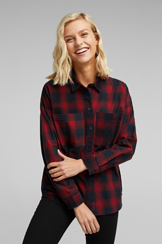 Checked corduroy blouse made of 100% organic cotton