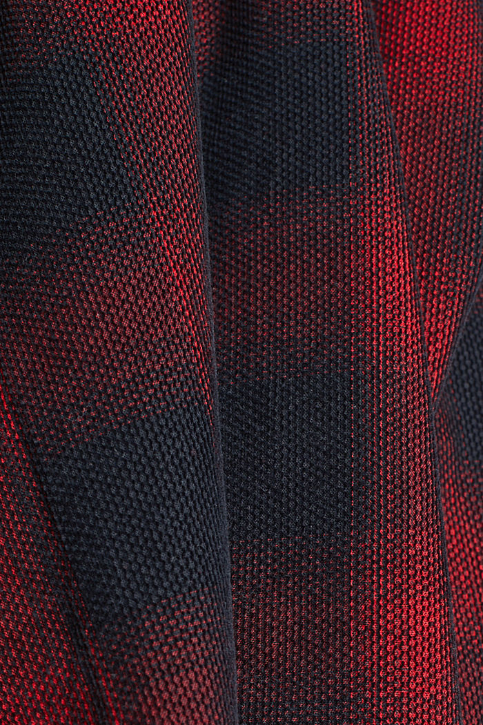 Checked corduroy blouse made of 100% organic cotton, BLACK, detail image number 4