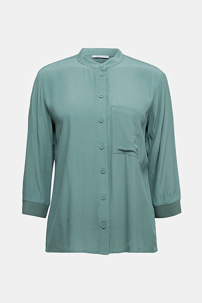 Blouse made from LENZING™ ECOVERO™, LIGHT KHAKI, detail image number 5
