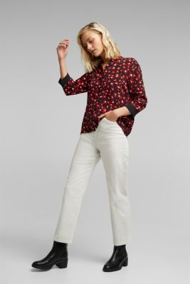 Print blouse with LENZING™ ECOVERO™, BLACK 3, detail