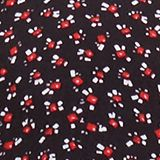 Print blouse with LENZING™ ECOVERO™, NEW BLACK, swatch