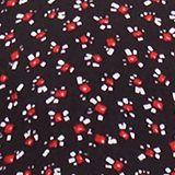 Print-Bluse aus LENZING™ ECOVERO™, NEW BLACK, swatch