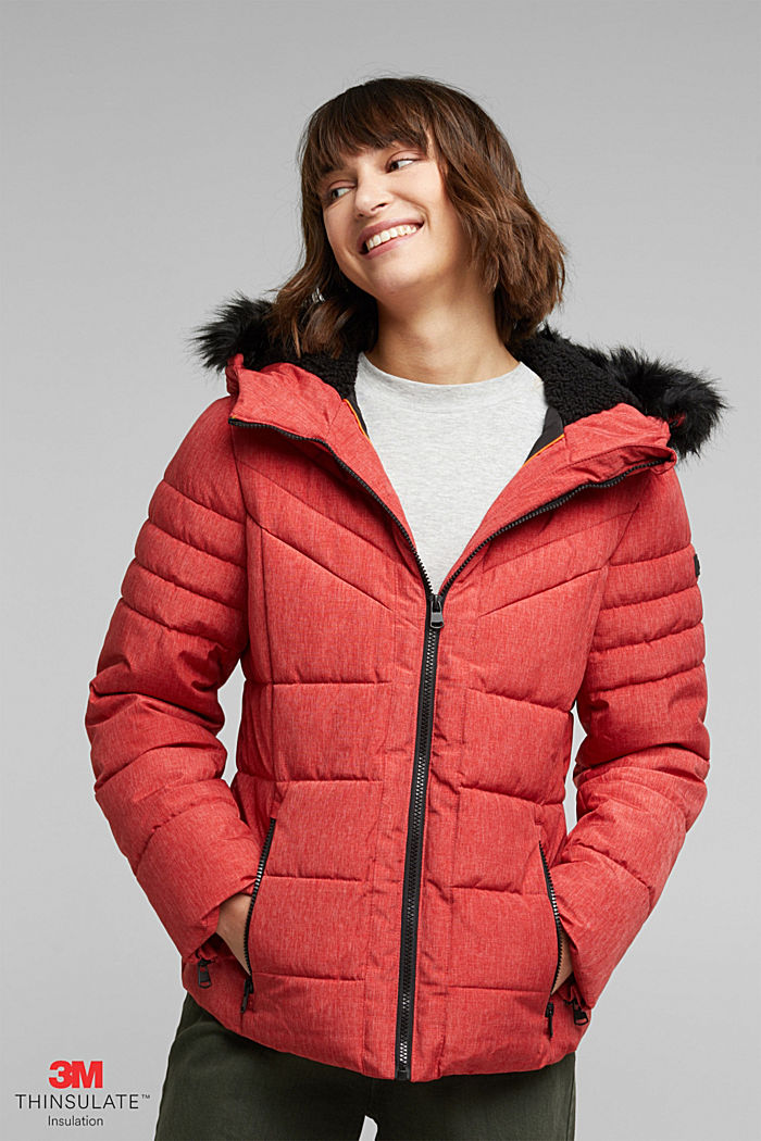 Recycled: jacket with 3M™ Thinsulate™ padding, RED, detail image number 0