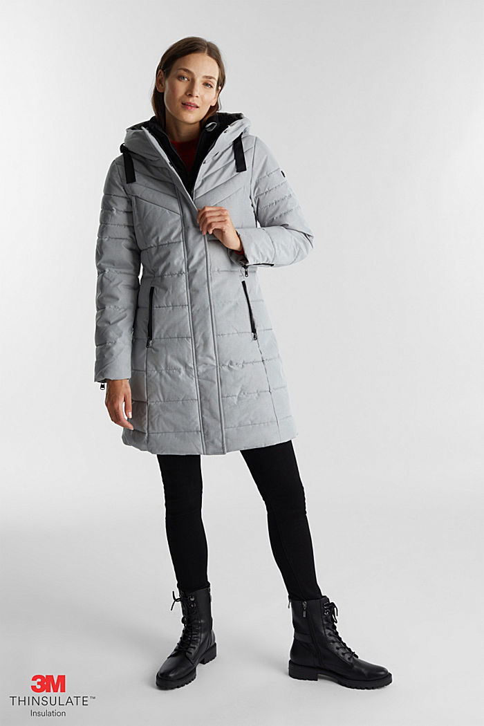 Recycled: coat featuring 3M™ Thinsulate™, LIGHT GREY, detail image number 0