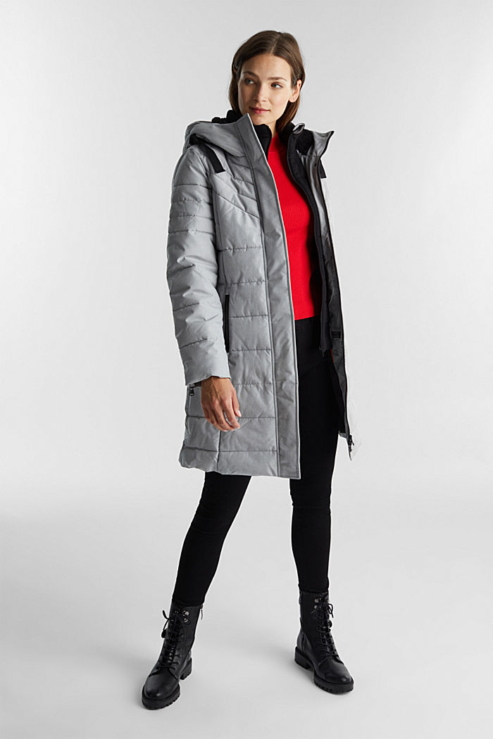 Recycled: coat featuring 3M™ Thinsulate™, LIGHT GREY, detail image number 1