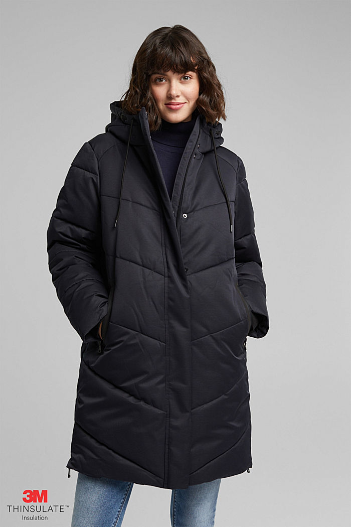 Quilted coat with 3M®Thinsulate filling, BLACK, detail image number 0