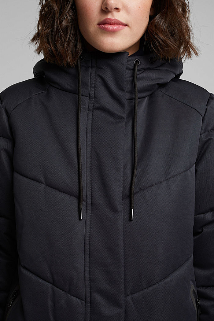 Quilted coat with 3M®Thinsulate filling, BLACK, detail image number 2