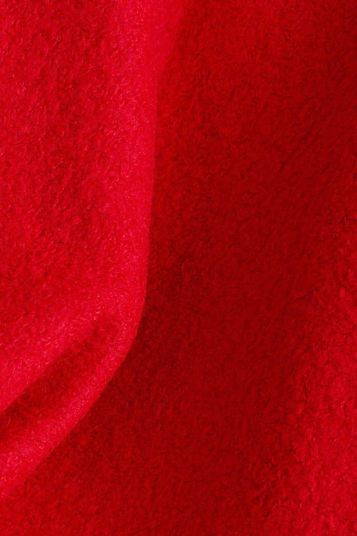 Hooded coat made of blended wool, RED, detail image number 4