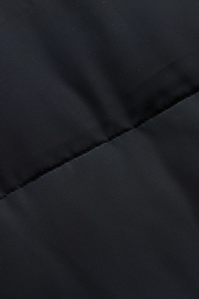 Recycled: padded quilted coat with hood, BLACK, detail image number 4