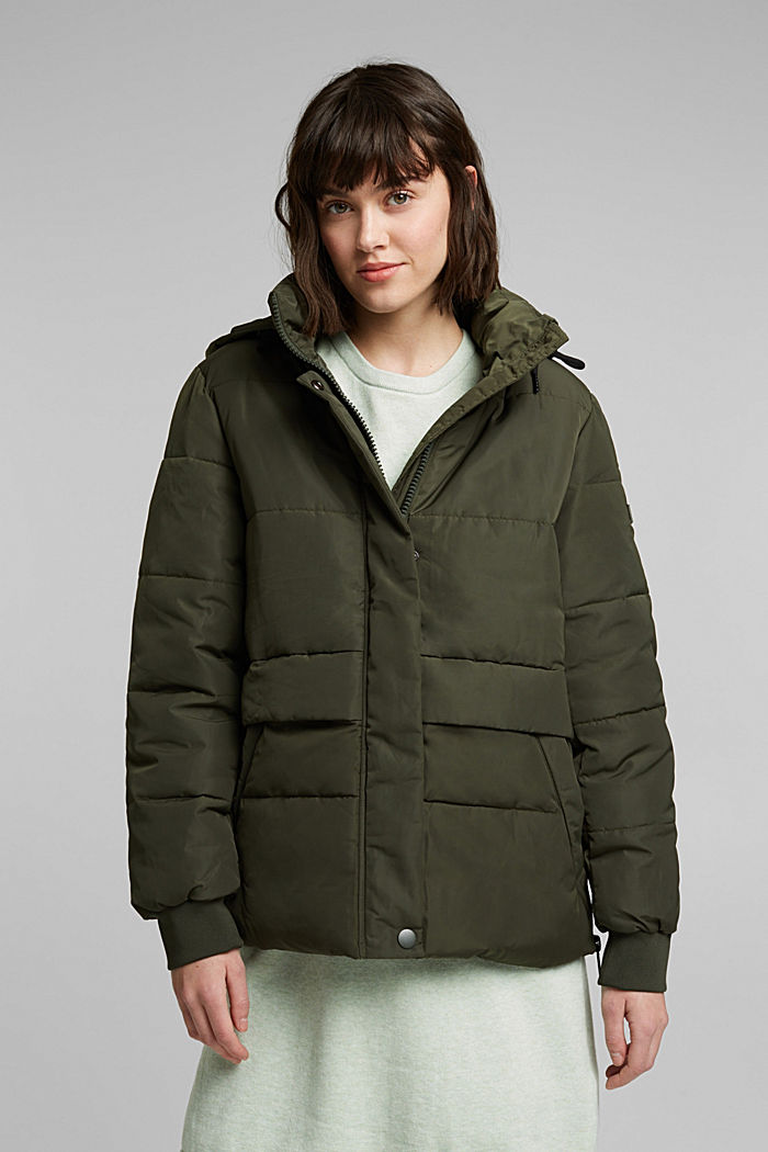 Recycled: Quilted jacket with 3M™ Thinsulate™, KHAKI GREEN, detail image number 0