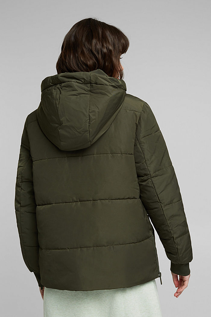 Recycled: Quilted jacket with 3M™ Thinsulate™, KHAKI GREEN, detail image number 3