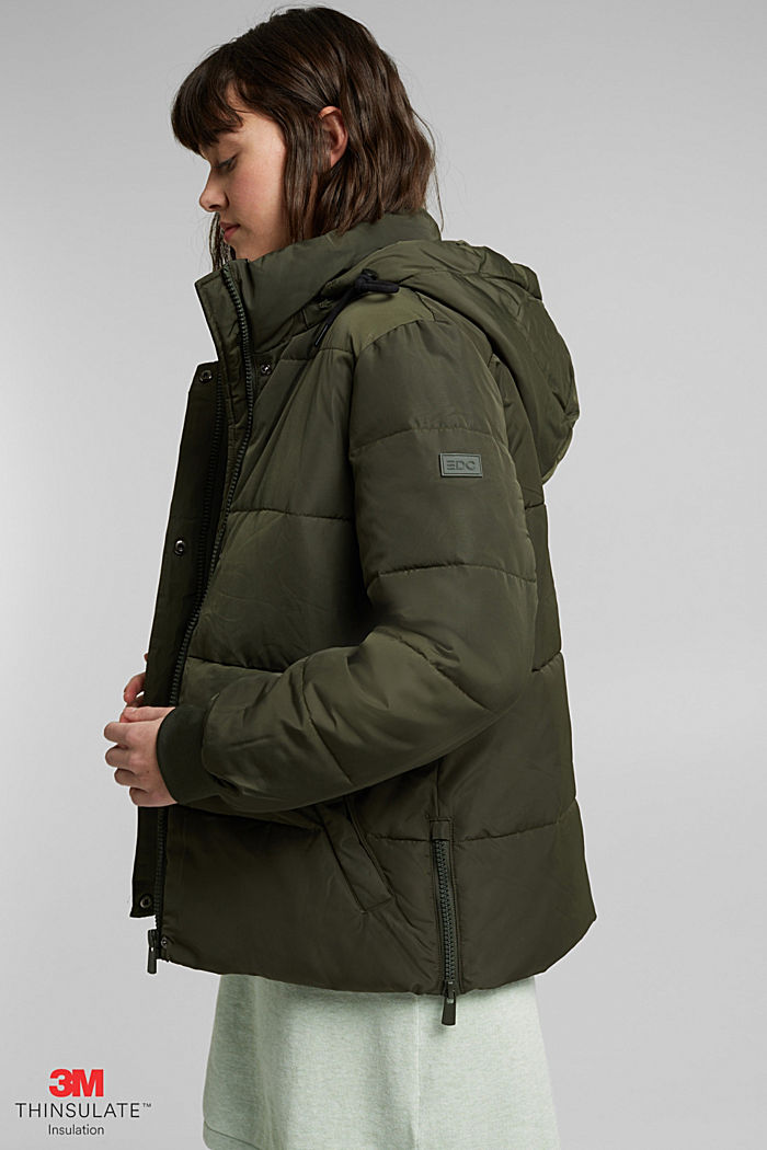 Recycled: Quilted jacket with 3M™ Thinsulate™, KHAKI GREEN, detail image number 4