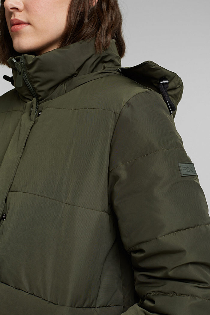 Recycled: Quilted jacket with 3M™ Thinsulate™, KHAKI GREEN, detail image number 2