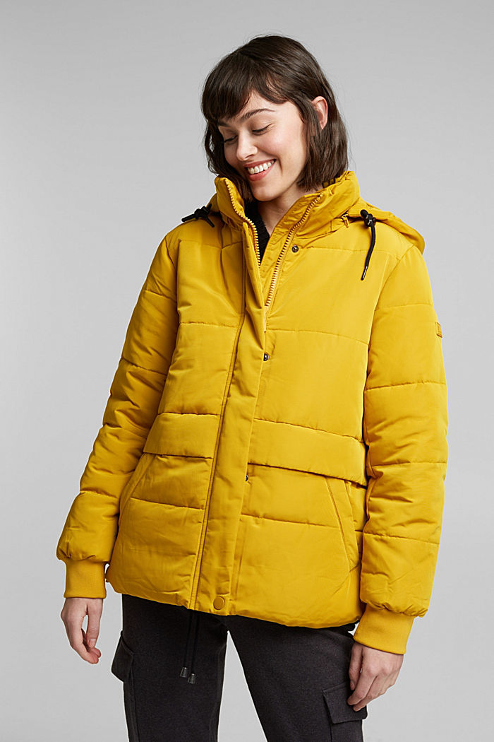 Recycled: Quilted jacket with 3M™ Thinsulate™, BRASS YELLOW, detail image number 0