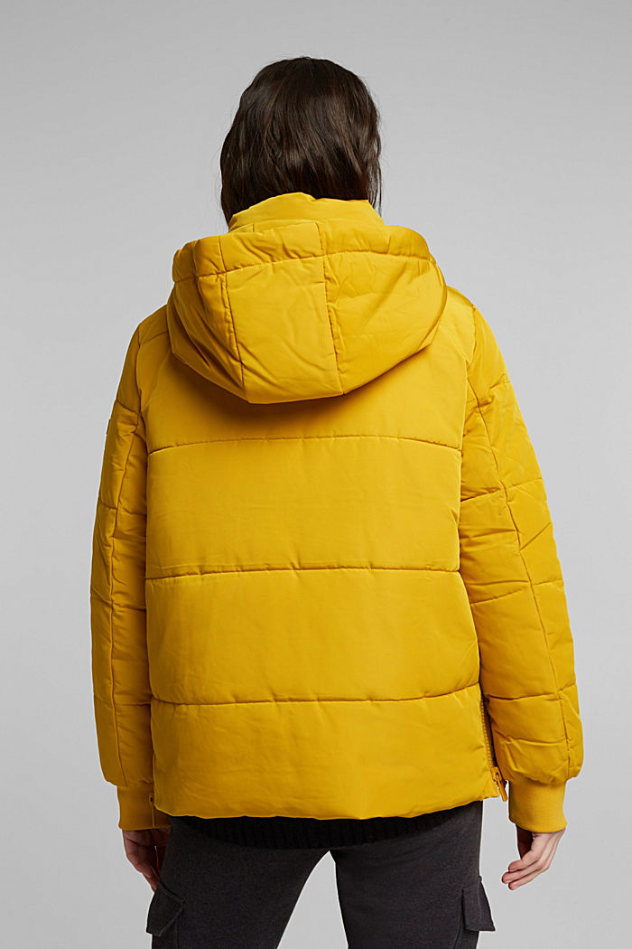 Recycled: Quilted jacket with 3M™ Thinsulate™, BRASS YELLOW, detail image number 3