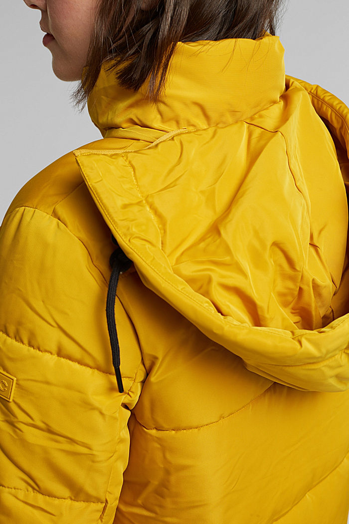 Recycled: Quilted jacket with 3M™ Thinsulate™, BRASS YELLOW, detail image number 2