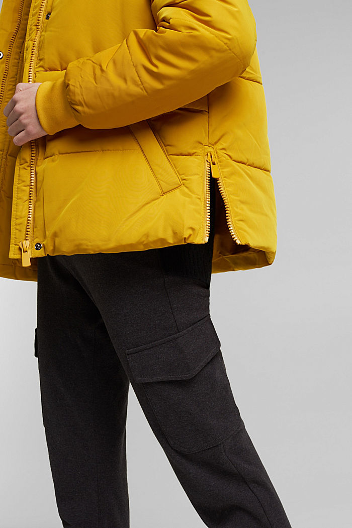 Recycled: Quilted jacket with 3M™ Thinsulate™, BRASS YELLOW, detail image number 4