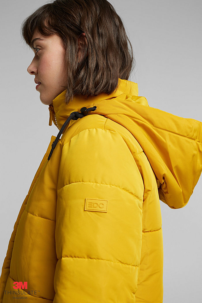 Recycled: Quilted jacket with 3M™ Thinsulate™, BRASS YELLOW, detail image number 5