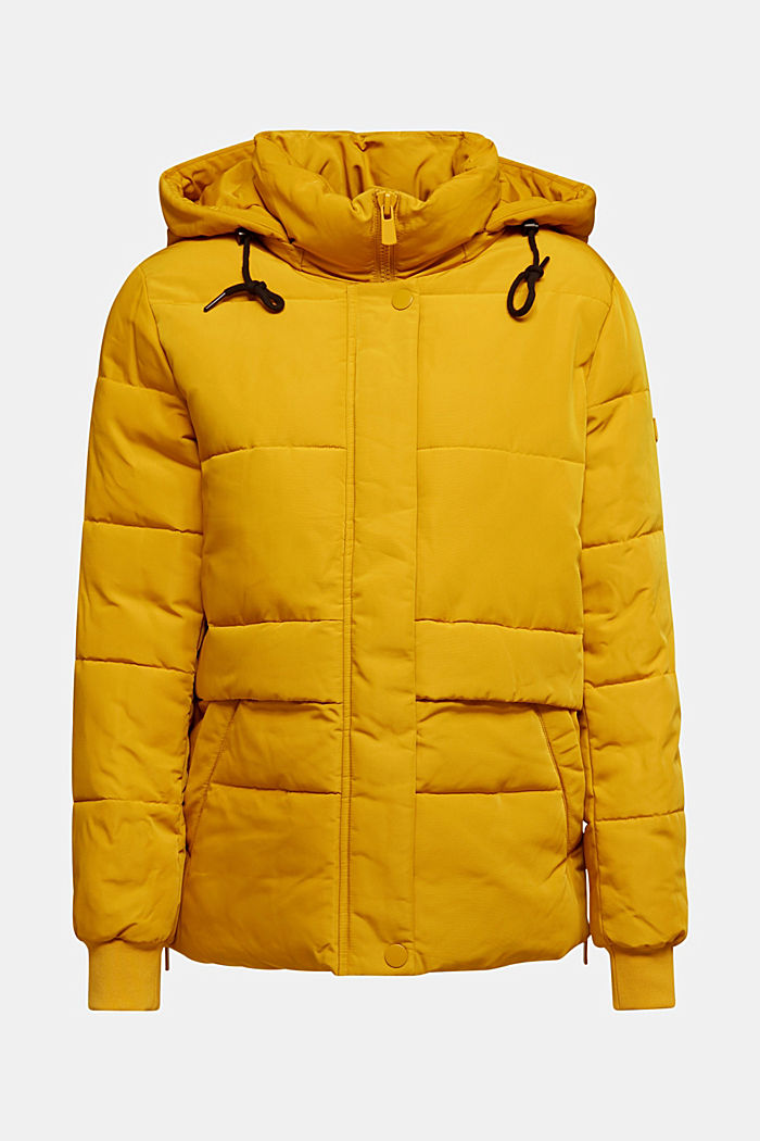 Recycled: Quilted jacket with 3M™ Thinsulate™, BRASS YELLOW, detail image number 6