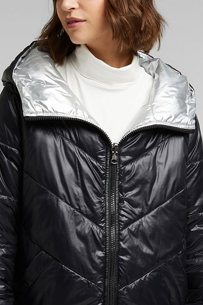 Reversible jacket made of 3M™ Thinsulate™, BLACK, detail image number 2