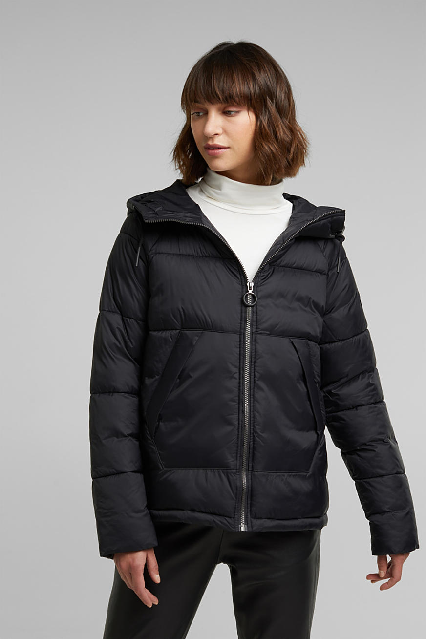 Recycled: incredibly lightweight quilted jacket