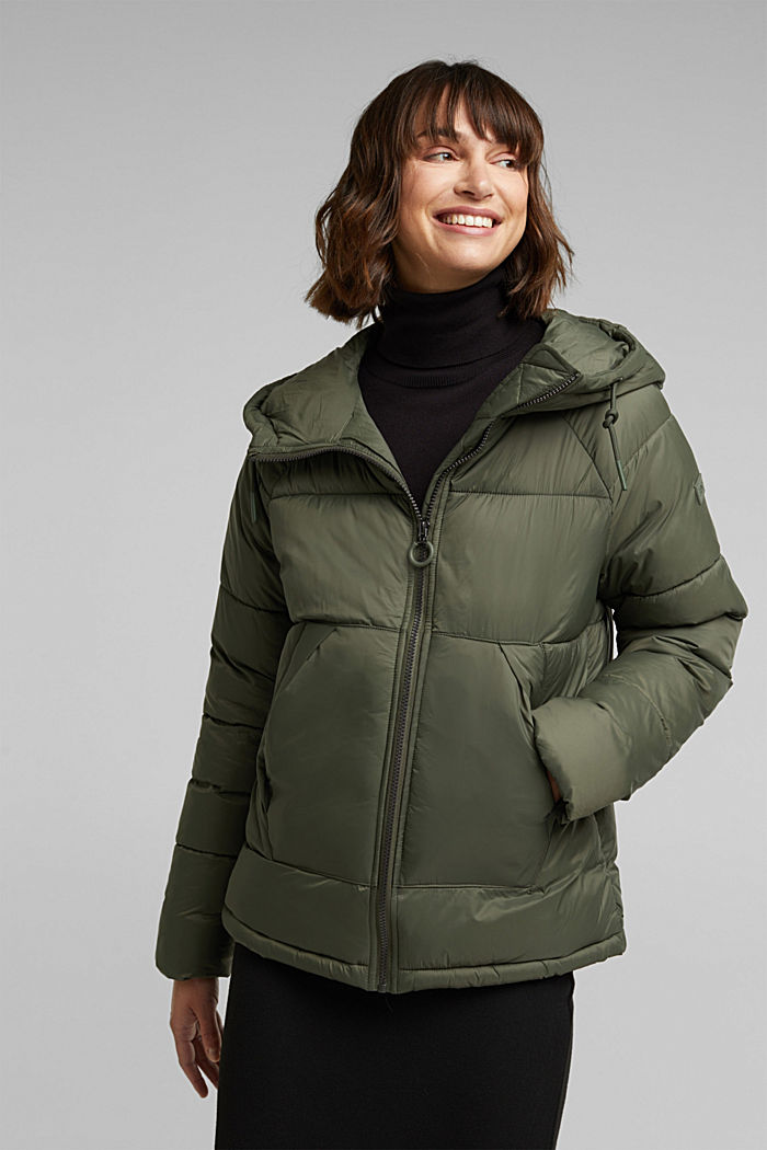 Recycled: incredibly lightweight quilted jacket, KHAKI GREEN, overview