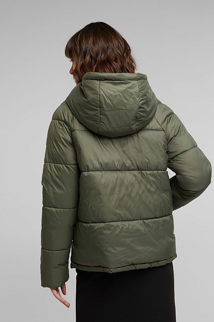 Recycled: incredibly lightweight quilted jacket, KHAKI GREEN, detail image number 3