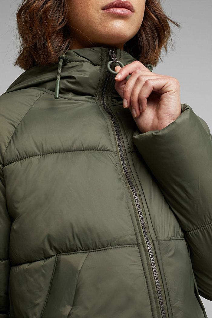 Recycled: incredibly lightweight quilted jacket, KHAKI GREEN, detail image number 2