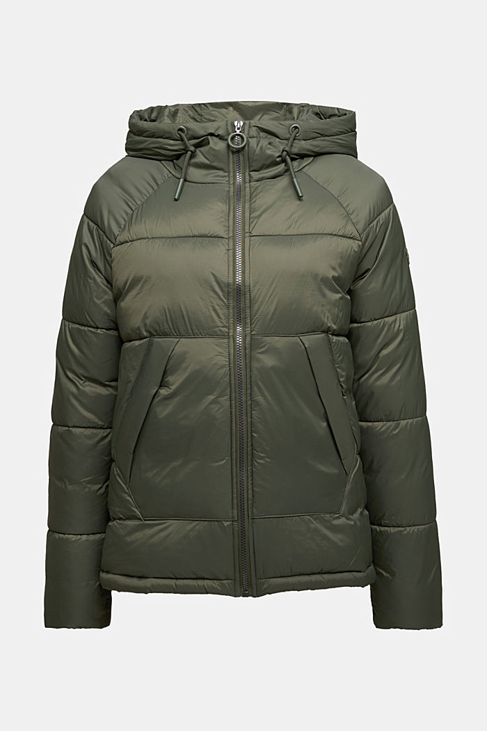 Recycled: incredibly lightweight quilted jacket, KHAKI GREEN, detail image number 5