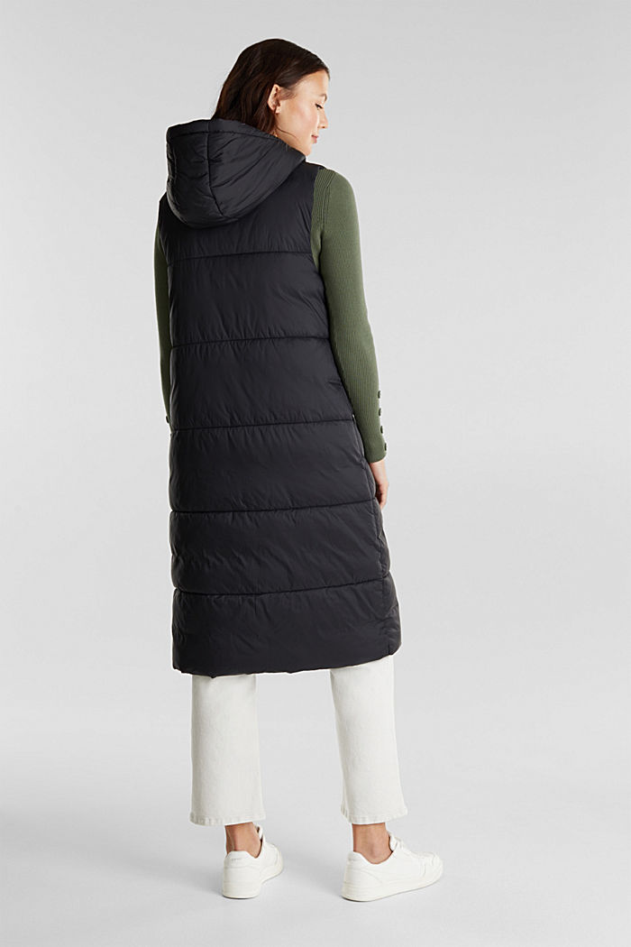 Recycled: quilted bodywarmer made of nylon, BLACK, detail image number 3