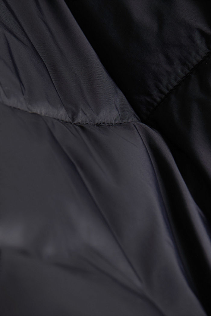 Recycled: quilted bodywarmer made of nylon, BLACK, detail image number 4