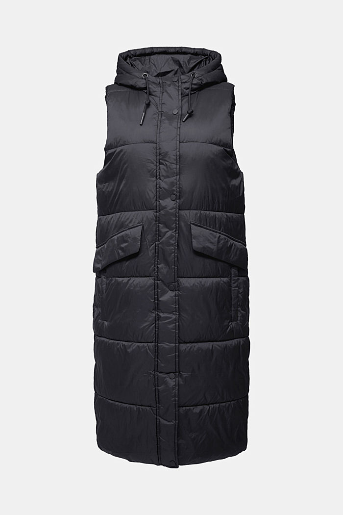 Recycled: quilted bodywarmer made of nylon, BLACK, detail image number 6