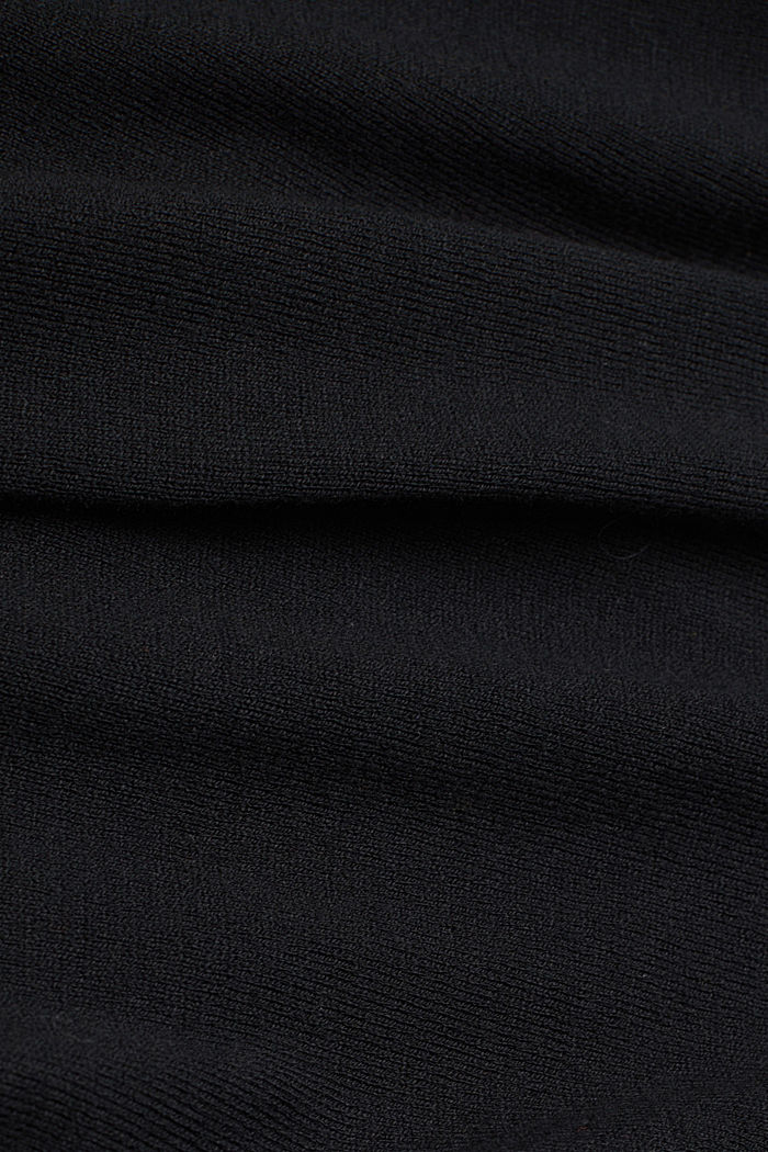 Polo neck jumper with organic cotton, BLACK, detail image number 4