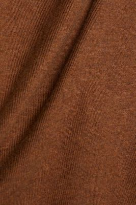 Polo neck jumper with organic cotton, TOFFEE, detail