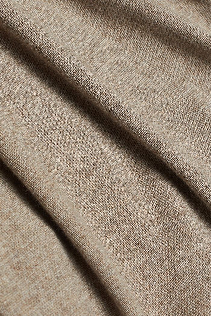 Polo neck jumper with organic cotton, TAUPE, detail image number 4