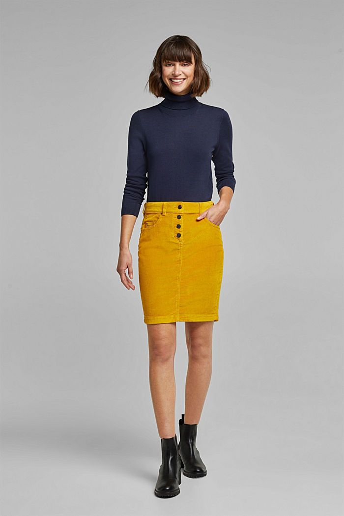 Polo neck jumper with organic cotton, NAVY, detail image number 1